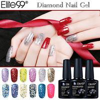 Elite99 Diamond Glitter UV Gel Polish Vernis Semi Permanent Top Base Coat 10ml
