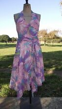 Silk Floral Women's Halter Neck Dresses