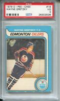 1979 OPC Hockey #18 Wayne Gretzky Rookie Card RC Graded PSA 3 O-Pee-Chee