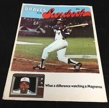 1974 Official Braves Baseball Scorebook Hank Aaron's 715th HR Pictured