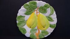 FIVE MAJOLICA FRUIT MOTIF CERAMIC PLATES