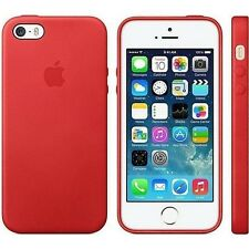 Orginal Apple Leather Leder Case Leder Hülle Cover für iPhone SE 5 5s Rot Red