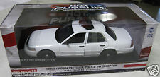 Greenlight 1/18 Blank White Ford Crown Vic Police Car W/ Lights & Siren!