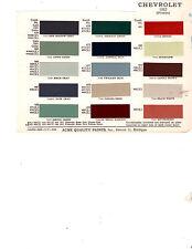 LATE 1951 & 1952 CHEVROLET FLEETLINE STYLELINE DELUXE 5152 PAINT CHIPS 52 ACME