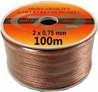 100m High-End CCA Kupfer-Lautsprecherkabel 2x0,75 100m Boxen Cable Kabel Audio