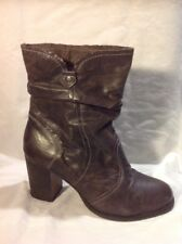 Aldo Brown Mid Calf Leather Boots Size 39