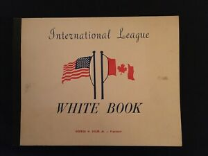 1966 International League of Professional Baseball Clubs Official WHITE BOOK G.
