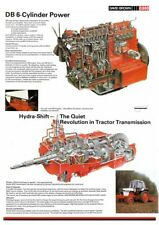 David Brown Case Tractor Poster 1690 Engine & Transmission Gearbox Cutaway A3
