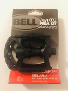 "Bell Kicks 350 Universal Bicycle Pedal Set Fits 1/2""- 9/16"" Black"