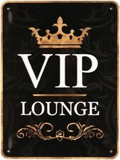 VIP Lounge Blechschild geprägt 20x15 cm Retro Reklame Metallschild M8