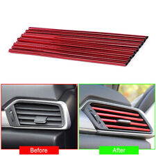 10Pcs 20CM Auto Car Accessories Air Conditioner Air Outlet Decoration Strip BR