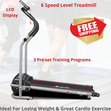 Electric Treadmill Exercise Machine Cardio Workout walk Run Fitness Quiet Compac