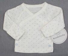 New Koala Baby Preemie Baby Boy Blue & Brown Star Side Snap Shirt