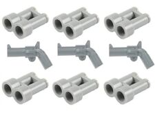 LEGO 3 X Pistols & 6 x Binoculars for Minifigs NEW Dark Bluish Grey Cowboy NEW