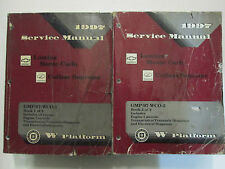 1997 Chevrolet Lumina Monte Carlo Oldsmobile Cutlass Supreme Service Manual Set
