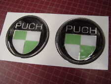 PUCH Mercedes MC Moped Round  Badges Thick Plastic  50mm