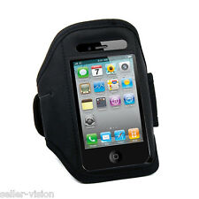 Black Sports Running Gym Armband Velcro for Apple iPhone 4S 4G 3GS 3G iPod Touch