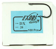 100 Exori DX 20 Needle Point Bait Hook for Carp & Bass