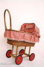 Schöner Holz Puppenwagen / Korbwagen Gummireifen / Nice nostalgic doll carriage