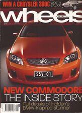 Wheels Aug 06 VE Commodore Mazda 3 MPS Punto Audi TT Liberty Brabus Forfour