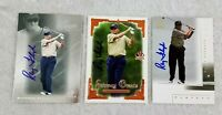Raymond Floyd PGA Tour SP Authentic Autograph Signed Card Lot of 3 Cards