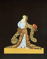 "ORIGINALE VINTAGE Erte Art Deco Print ""Rigoletto"" FASHION BOOK Piastra"