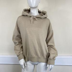 H&M Ladies Beige Long Sleeve Hooded Sweatshirt Jumper UK Size 10-12
