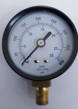 0-400 PSI Pressure Gauge 0-28 Bar, 50mm ( 2 Inch ) Metal Custodia 1/8 Bsp Bottom
