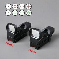 Hunting Tactical 20mm/11mm Holographic 1x22x33 Reflex Red Green Dot Sight Scope