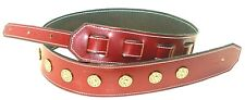 GUITAR STRAP CUSTOM LEATHER  HANDMADE BY AMERICAN HANDCRAFTED LEATHER