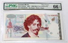 Goznak Ilya Yefimovich Repin 160 Years Anniversary2004 Specimen Test Note Pmg 66