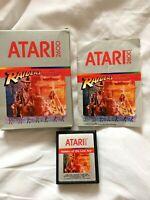 Atari 2600 Raiders Of The Lost Ark Game Cartridge + Box + Instructions Retro