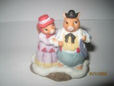 Fitz And Floyd Holiday Hamlet 1993 Squirrel Family Figurine Village