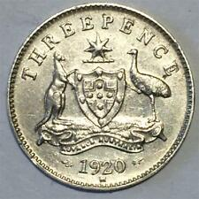 1920 Threepence About Extremely Fine