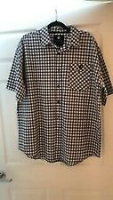 Rocawear Mens White, Tan and Blue Stripe Classic Shirt