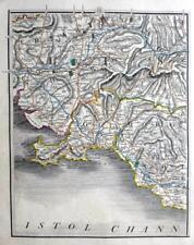 WALES GLAMORGAN SWANSEA NEATH BRIDGEND  BY JOHN CARY GENUINE ANTIQUE MAP  c1822