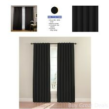 Cheap Window Door Curtains Double Panel Thermal Blackout Drape Living Room Shade