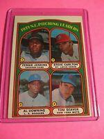 1972 Topps #93 NL Pitching Leaders Fergie Jenkins Steve Carlton Tom Seaver ExMt
