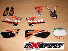 Kit déco autocollant moto cross pour KTM SX 85 SX85 ( 06 à 12 ) Haute Qualité