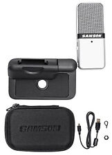 Samson GOMIC Go Mic Portable USB Condenser Microphone+Mounting Clip+Carry Case