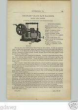 1910 PAPER AD Duplex Power Hack Saw Machine Star Brand