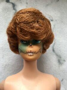 Barbie Doll Halloween Dead Face Painted Bubble Cut Brown Hair Vintage Mattel
