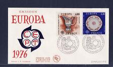 enveloppe 1er jour    paire   Europa  Strasbourg   1976