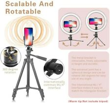 """10"""" LED Ring Light with Tripod Stand Dimmable 3 Light Modes & 10 Brightness Self"""