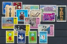LL93304 Ivory Coast nice lot of good stamps MNH