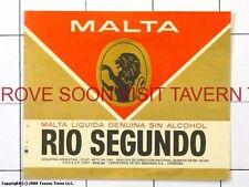Scarce Cerveza Malta Rio Segundo ??ml  Argentina Tavern Trove
