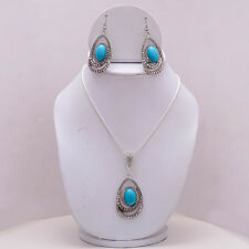 With Earrings Jewellery E3254 Beautiful Silver Plated Pendant