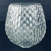 Vintage Clear Glass Globe Shade Rain Drop Prism Design, For Light Fixture, Lamp