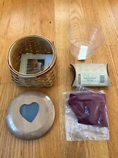 New ListingLongaberger Hostess Appreciation 2005 Heart Basket, Lid, Liner, Prot, Tie-on New