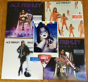 WOW - Ace Frehley Spaceman all 4 colors LP + CD + KISS signed photo & picks!!!